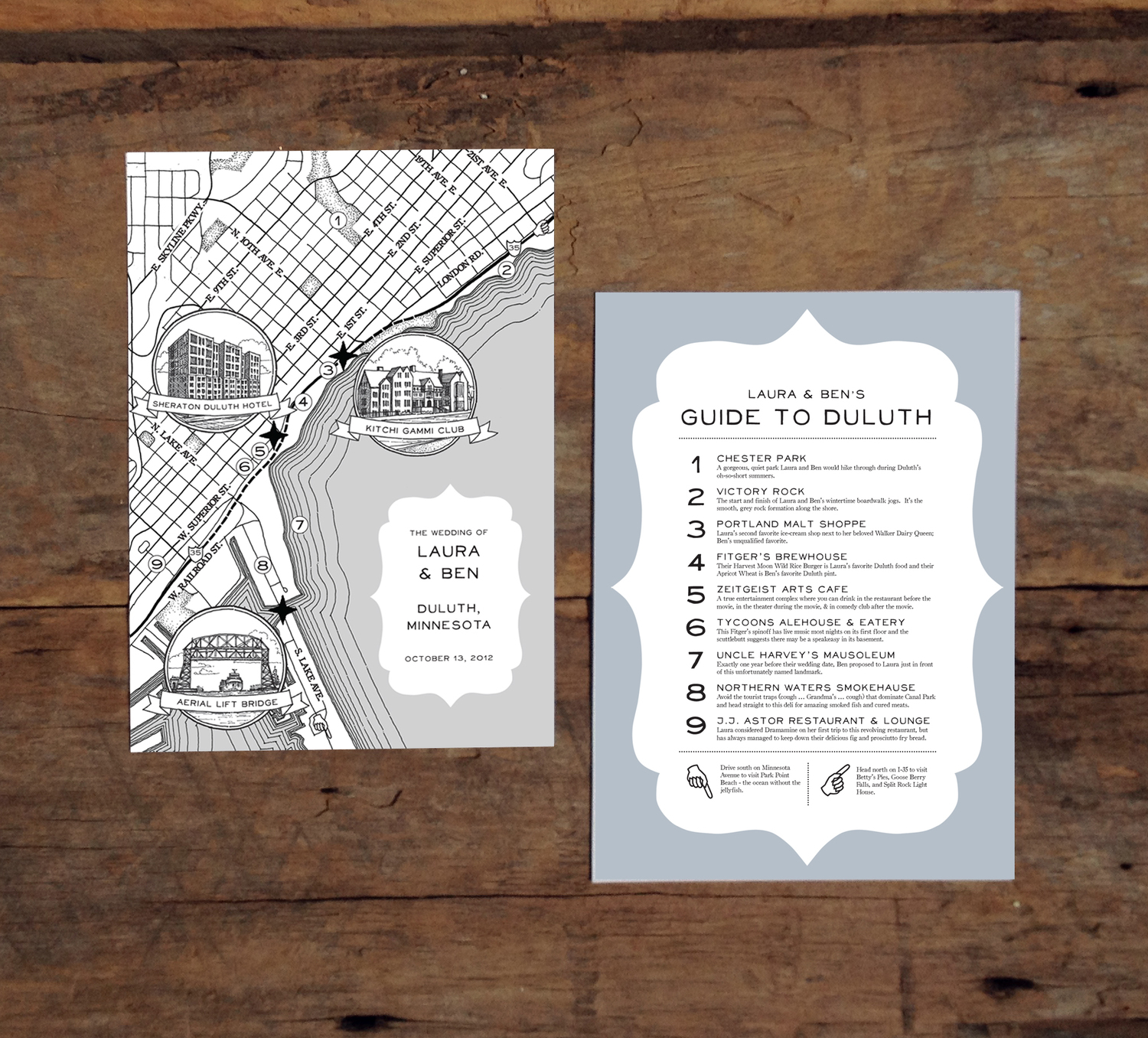 Custom Wedding Map with Guide — Naomi Leeman on