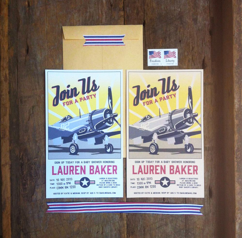 vintage airplane invitations naomi leeman