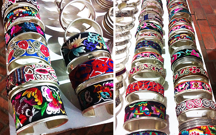 Aren't these embroidered silver cuffs absolutely gorgeous?!  Yes, I did buy one, I couldn't resist!