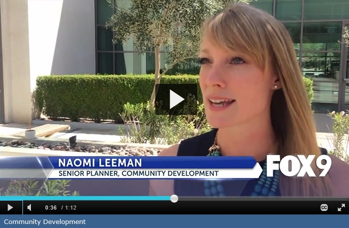 Interview on the  local news station  about the plan.