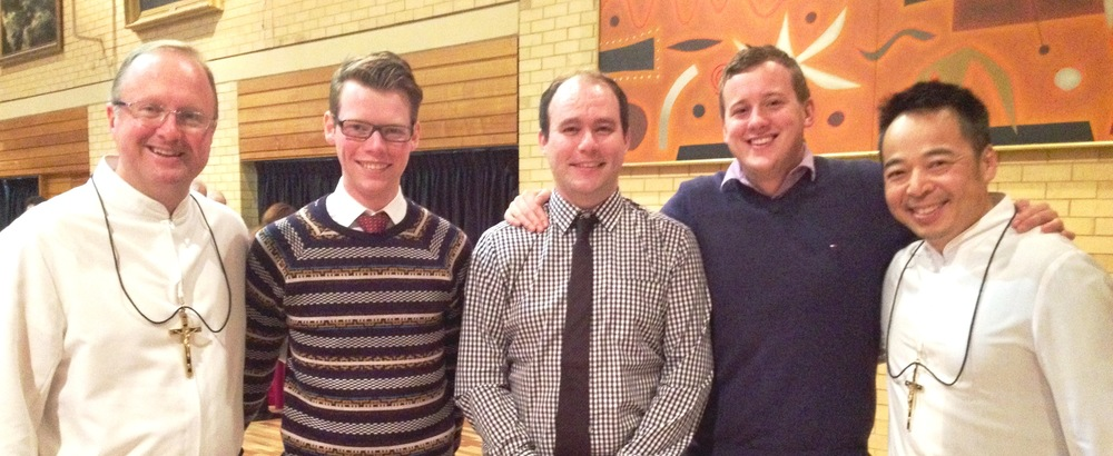 Brother Greg and Br Tony with Young Marists at the Jubilee Celebrations in Sydney.