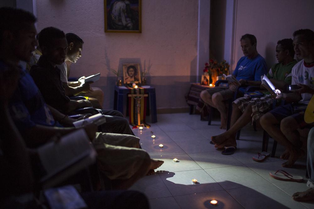 Morning prayer in the Postulancy Community at Baucau in Timor Leste.