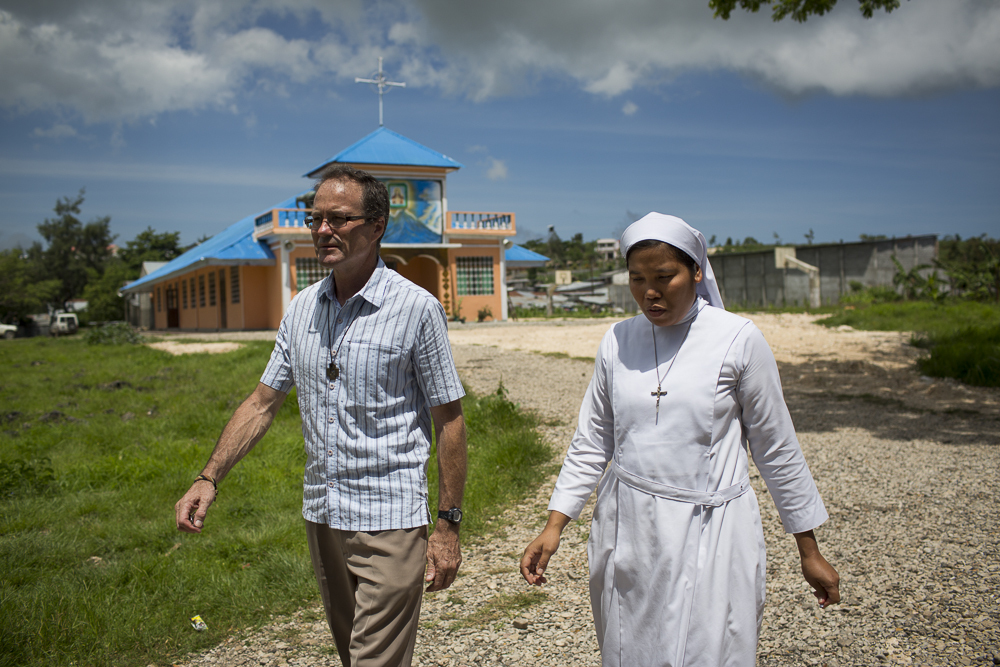 Br Tony with a religious sister in Baucau, Timor Leste.