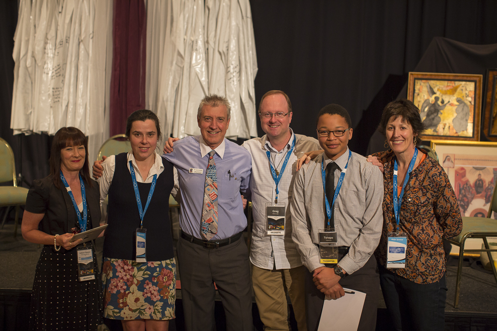 Br Greg with representatives from various Marist ministries at the Marist Schools Conference in Cairns.
