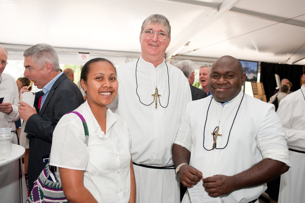 Br Ken and Br Stanley with Young Marist from the Disctrict of Melanesia.