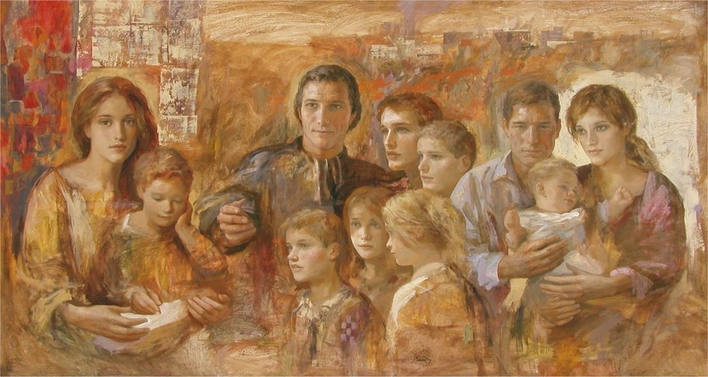 """""""The Marist Family"""" by Gregory (Goyo) Dominguez. Marist High School, Toledo, Spain."""