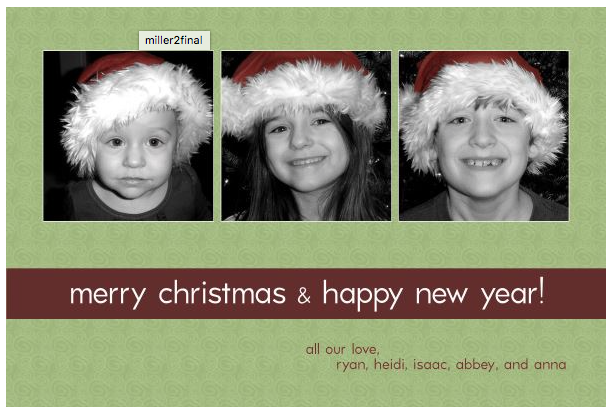 2005 Our first Mango Ink Christmas Card