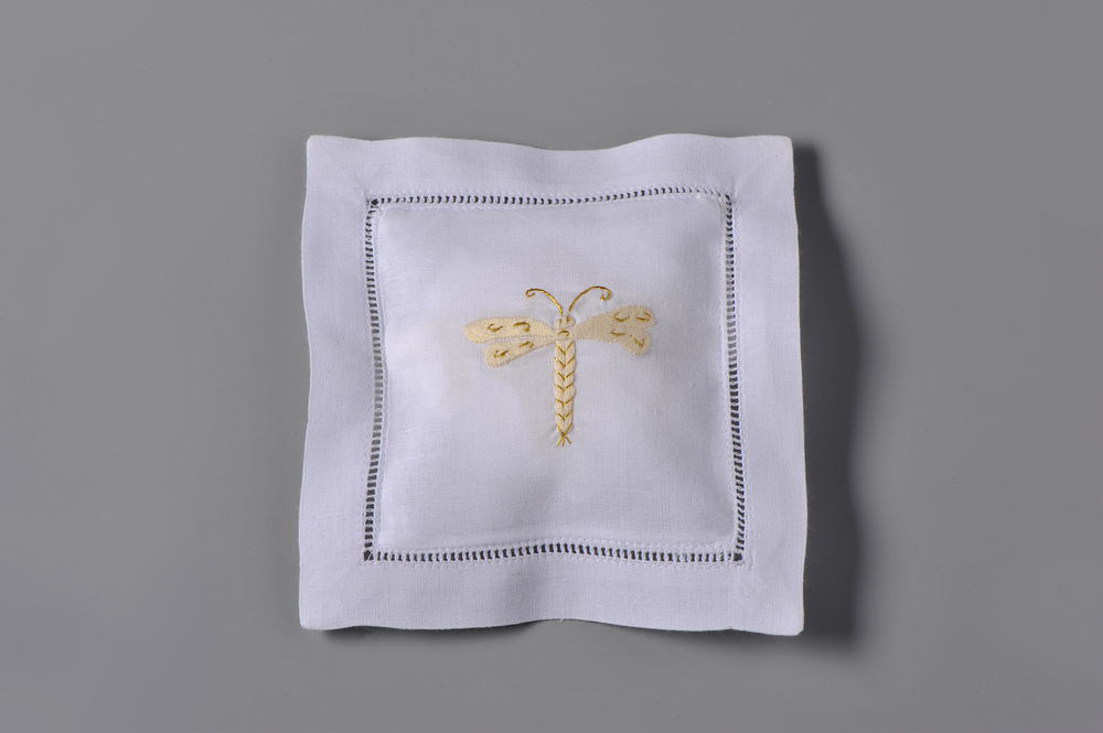#4224-RS Hand Embroidered Dragonfly Sachet     Suggested Retail Price $15
