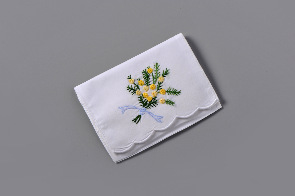 #4001-RS Hand Embroidered Mimosa Sachet Suggested Retail Price $15