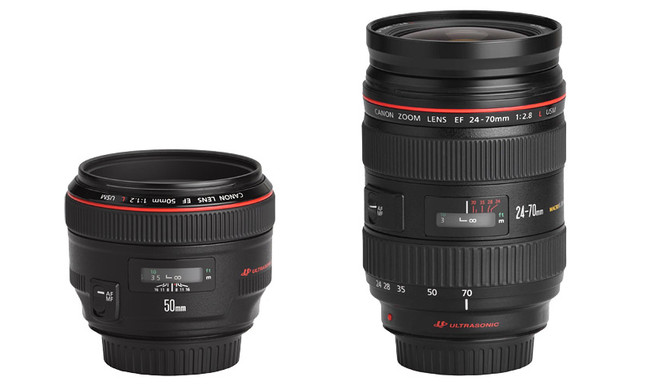 My two go-to Canon Lenses: 50mm & 24-70mm