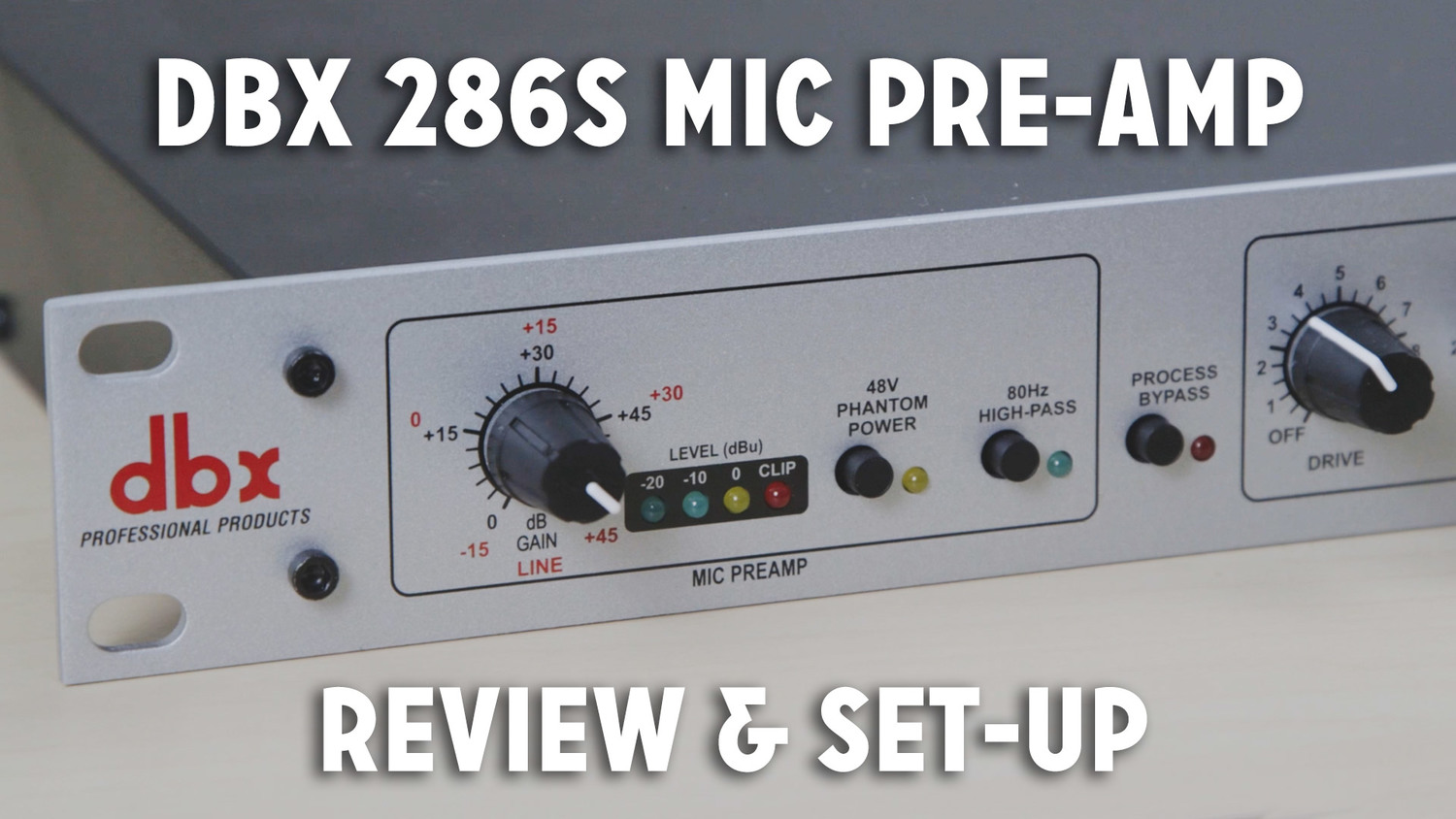 Dbx 286s Mic Pre Amp Review Set Up Walkthrough Caleb Wojcik Low Noise Microphone With Op