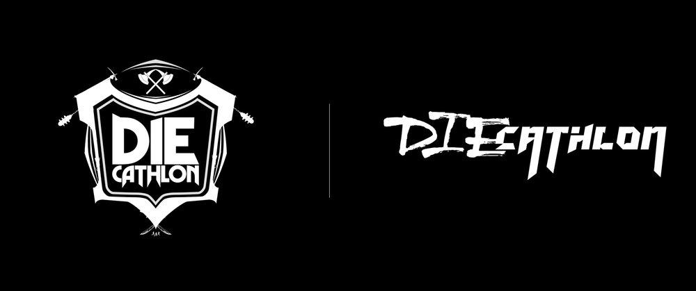 "80's Heavy Metal Themed ""Die Cathlon"" Logo Exploration (Right logo Awarded)"