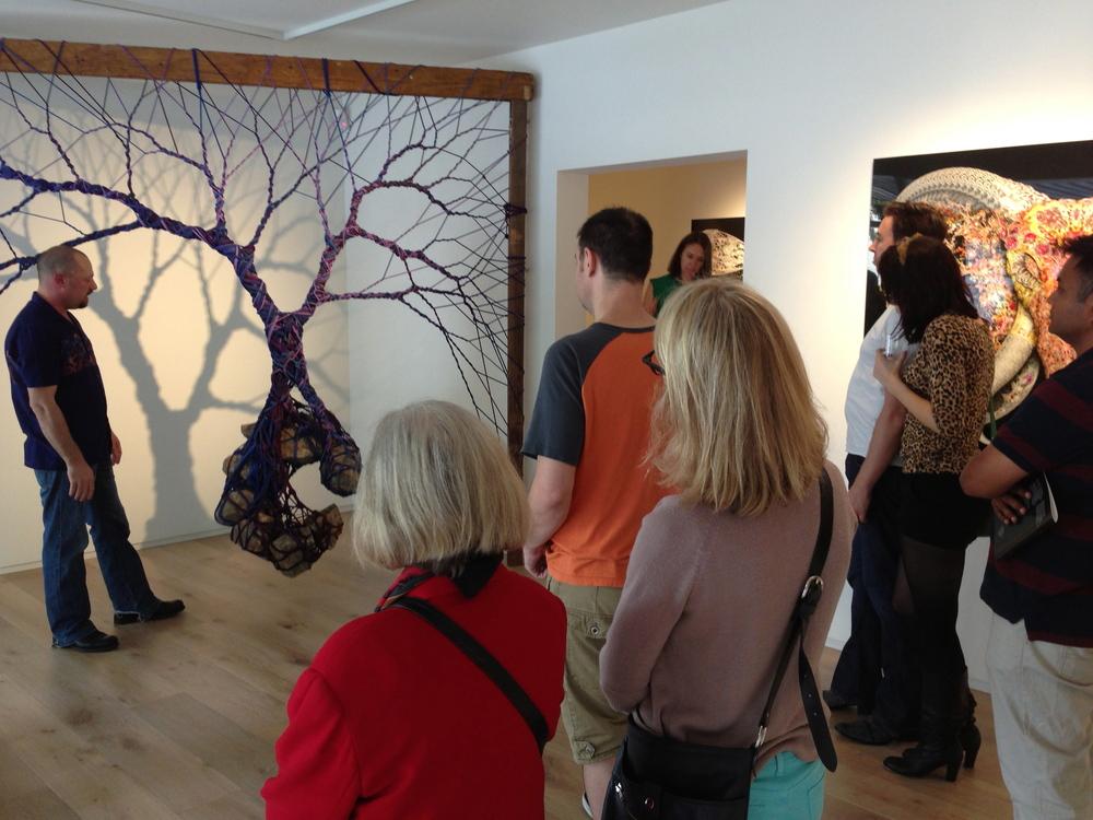 Artist, Garth Knight talking us through his process, Sat 16.11.13