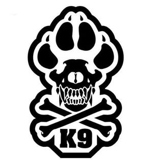 K UNIT POLICE DOGS TACTICAL MORALE MILITARY CAR VEHICLE WINDOW - Military window decals for cars
