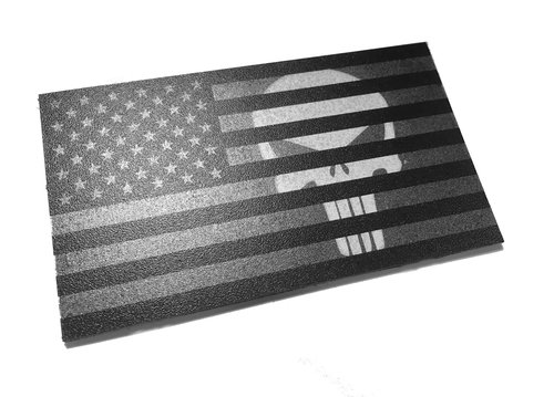 The subdued Punisher American flag patch - Matte Finish - (Forward or  reversed) aadf21af3f2