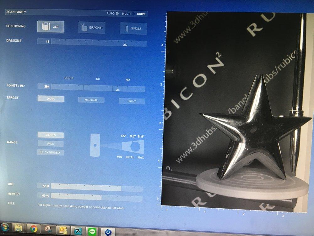 Rubicon 3D scan process