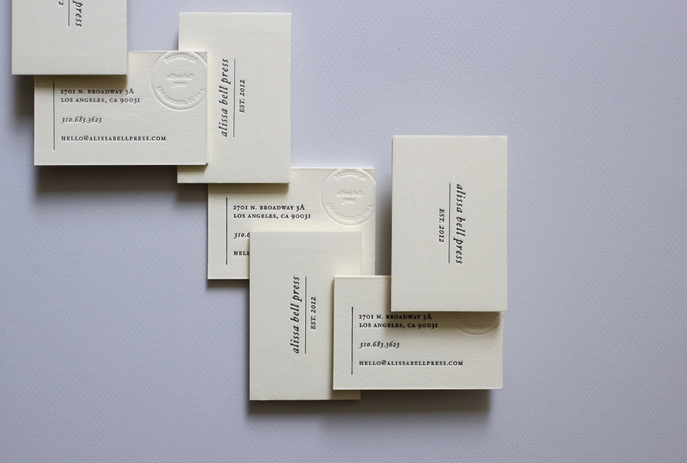 Business Cards - Alissa Bell Press