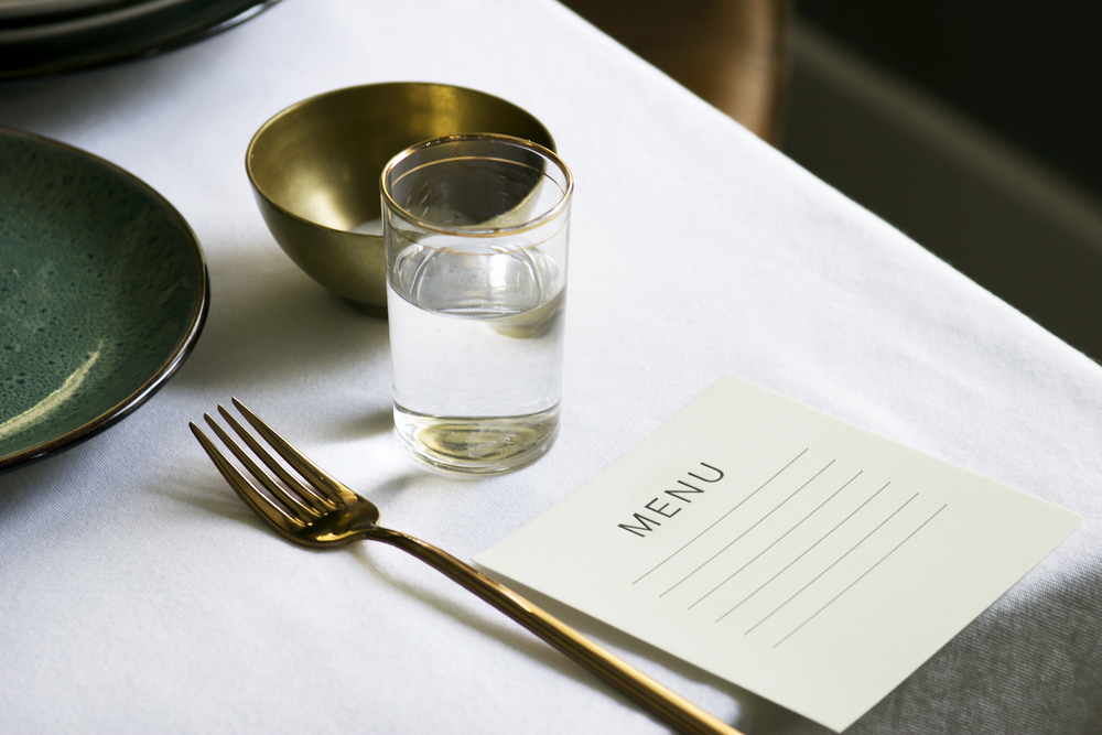 Lined Menu Tablescape - Alissa Bell Press