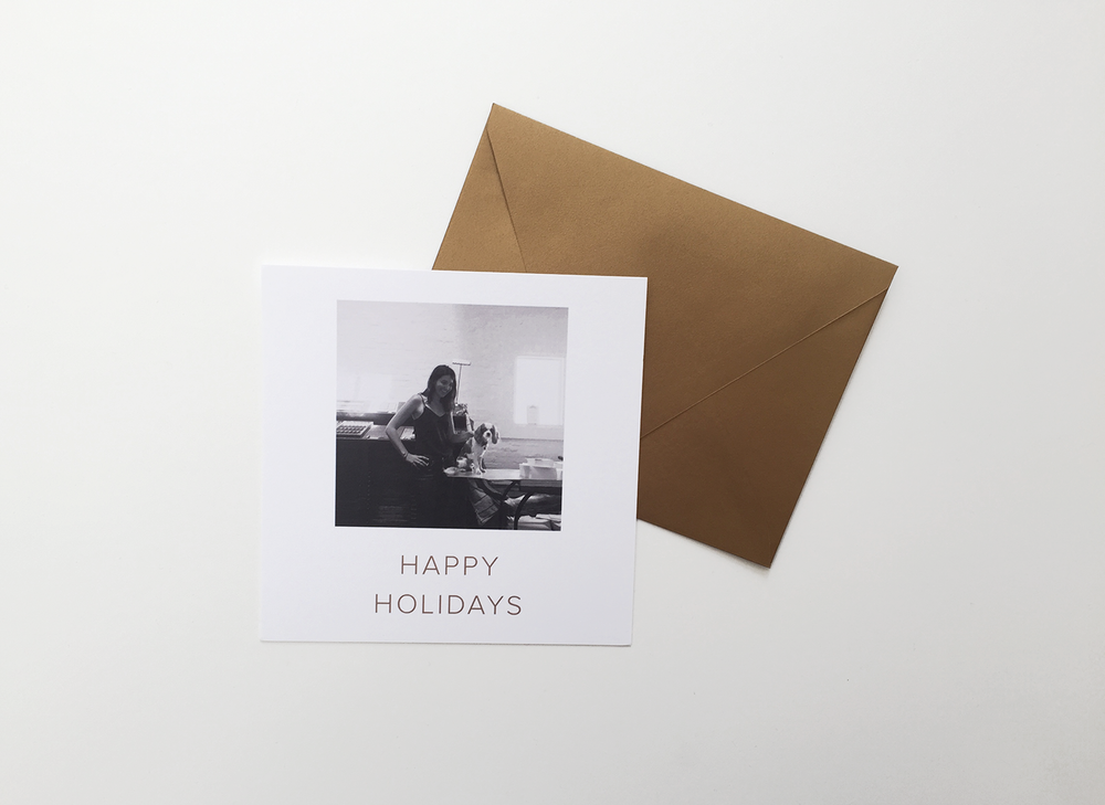 Happy Holidays Square Photo Card - Alissa Bell Press