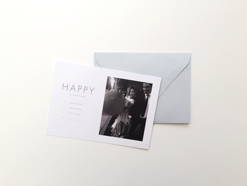 Happy Checklist Photo Card - Alissa Bell Press