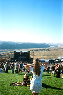 The view and natural acoustics at The Gorge are pretty tough to beat. Photo taken at Dave Matthews over Labor Day 2013