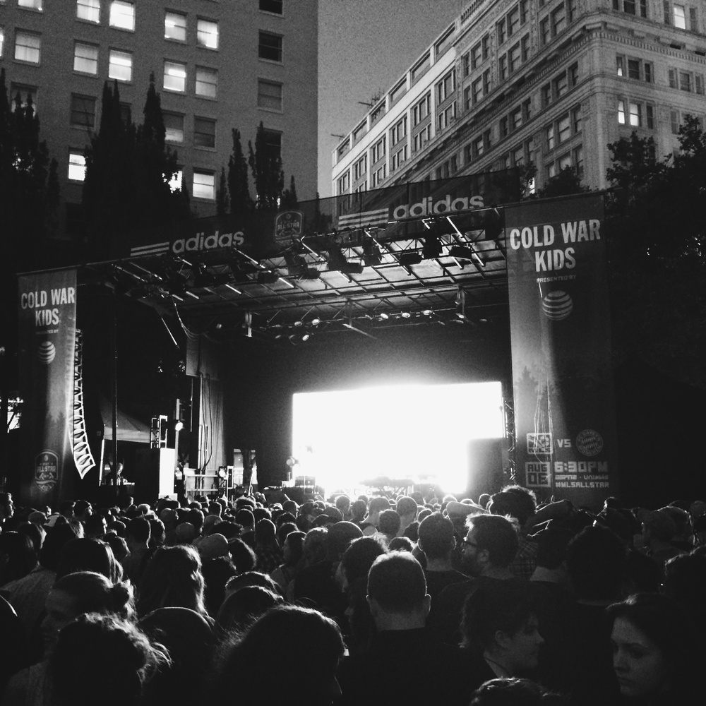 Cold War Kids concert in Pioneer Courthouse Square