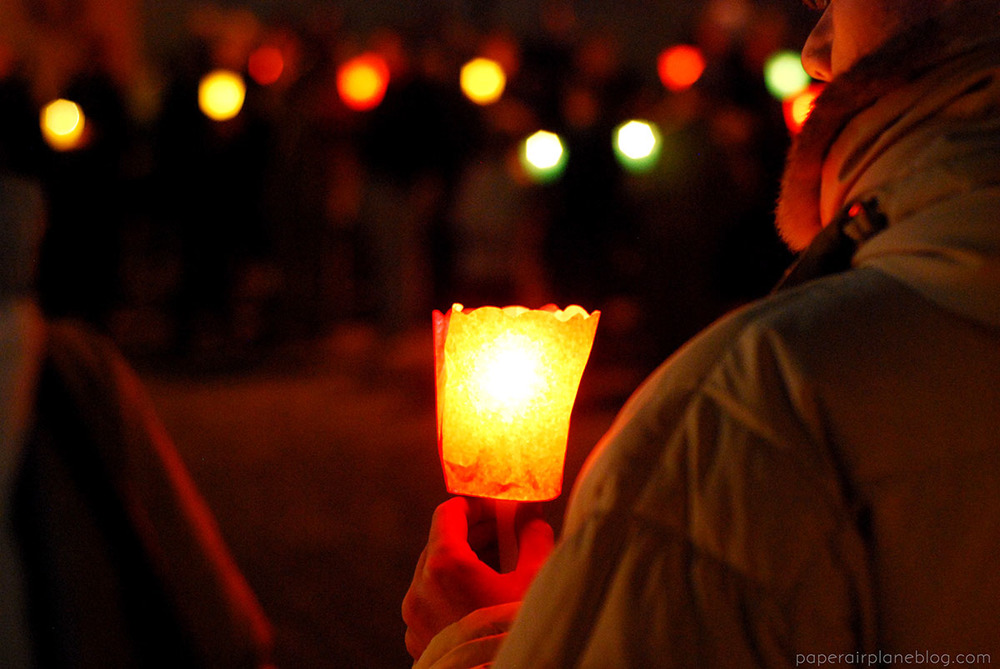 The festival with lanterns and Christmas carols in Macerata, Italy. (2011)