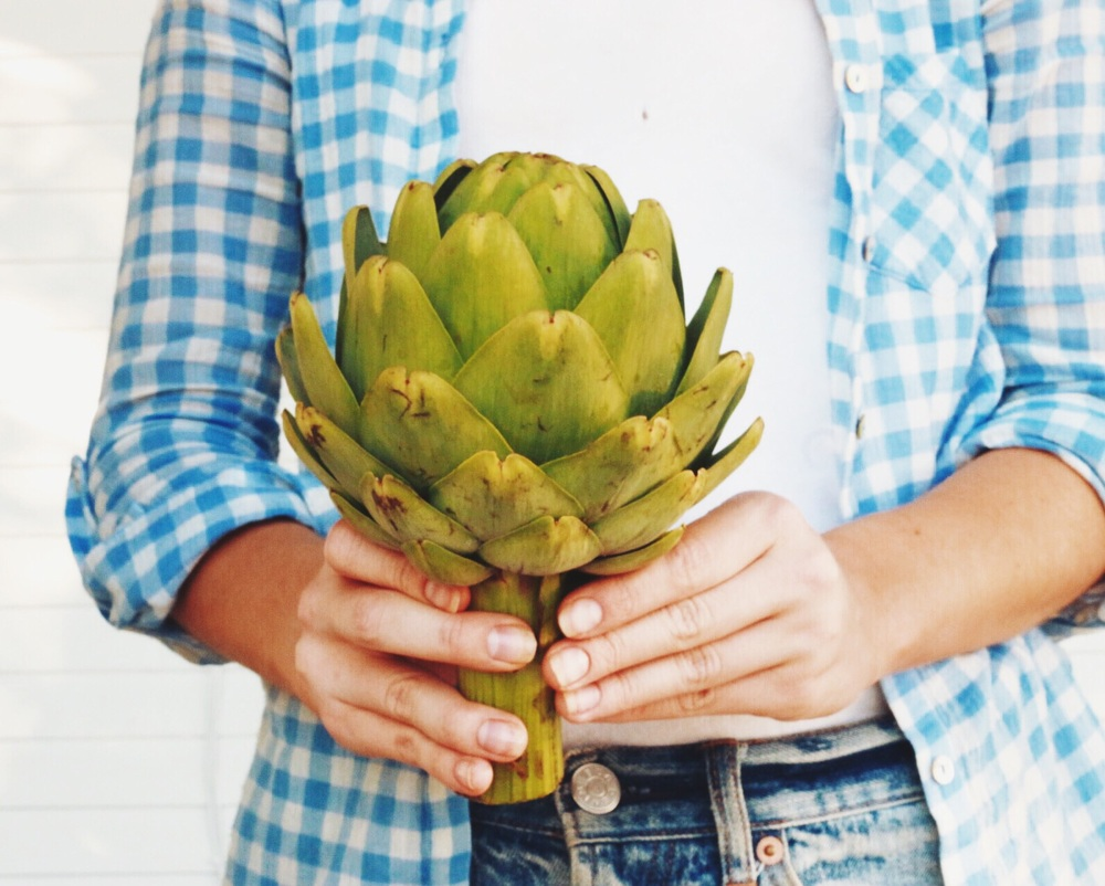 Seasonal eating: Artichokes are in season in Rome from April - May, and in Oregon from September - October.
