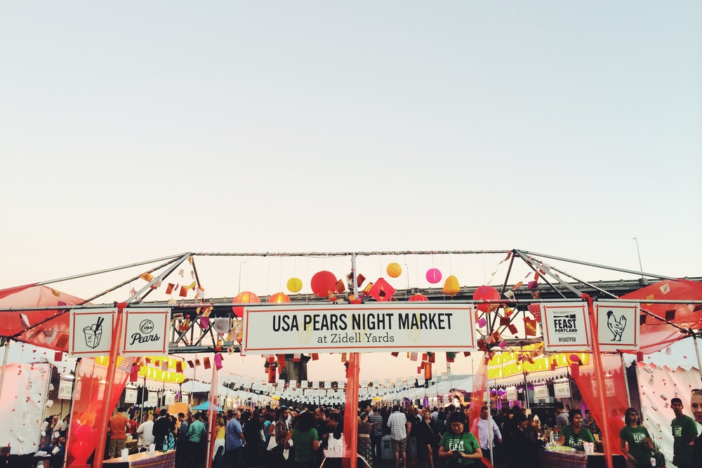 The scene at Feast Portland's global street fare-inspired Night Market.