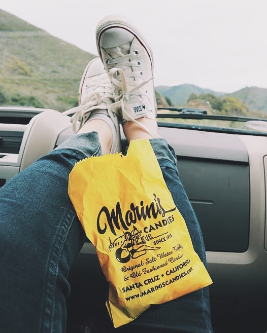 Road trip snacks en route from Santa Cruz - Monterrey Bay - Big Sur.