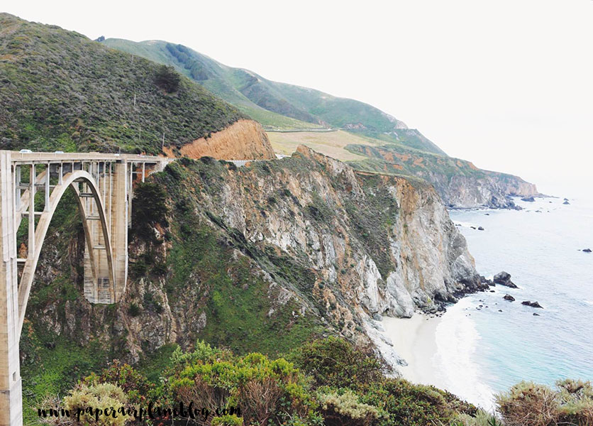 Bixby Canyon Bridge leading to one of the most beautiful stretches of the Pacific Coast Highway along the cliffs of Big Sur.
