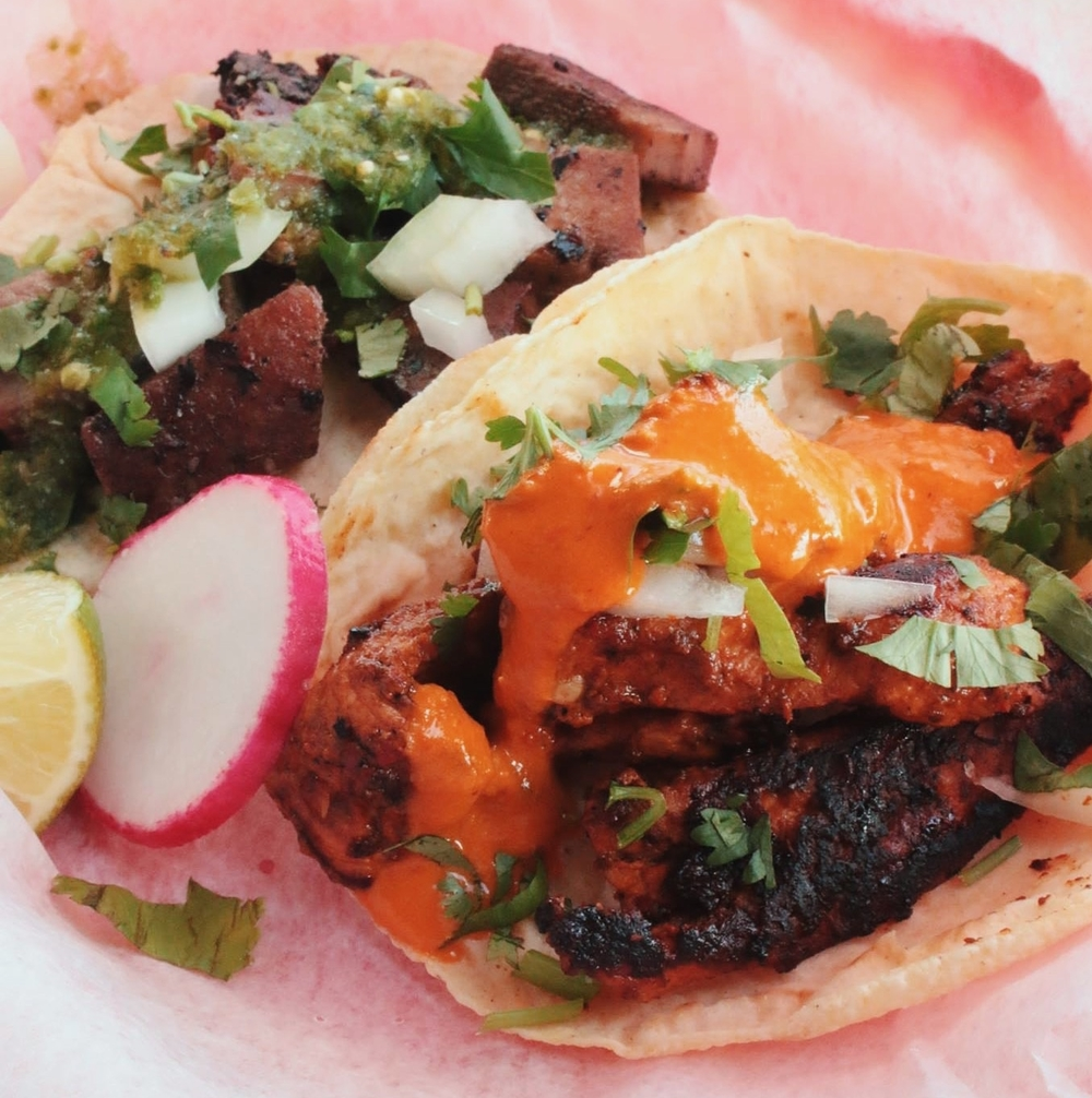 It's fiesta time with Lengua and Al Pastor tacos at Por Que No.