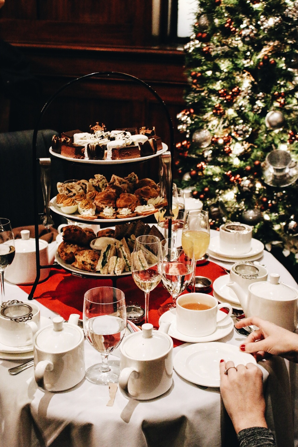 Holiday Tea at The Heathman | Christmas tree, teas, and all.
