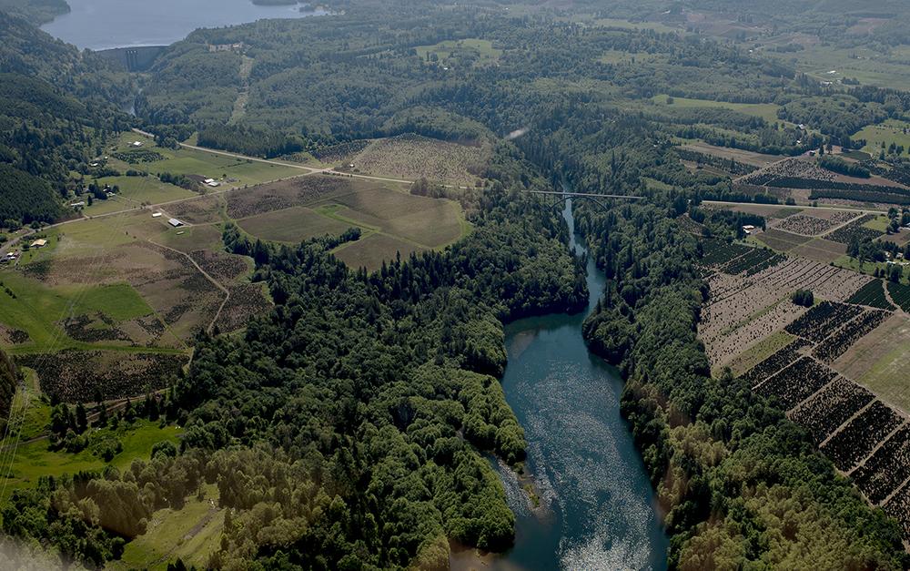 Mossyrock Dam, upper left