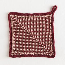 scrubby stripes dishcloth from knitpicks -