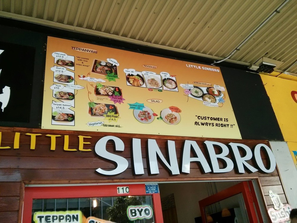 Little Sinabro Menu
