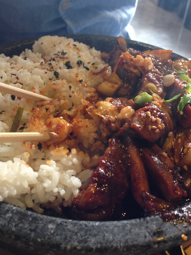 Hot Stone Plate with Chicken Bulgogi