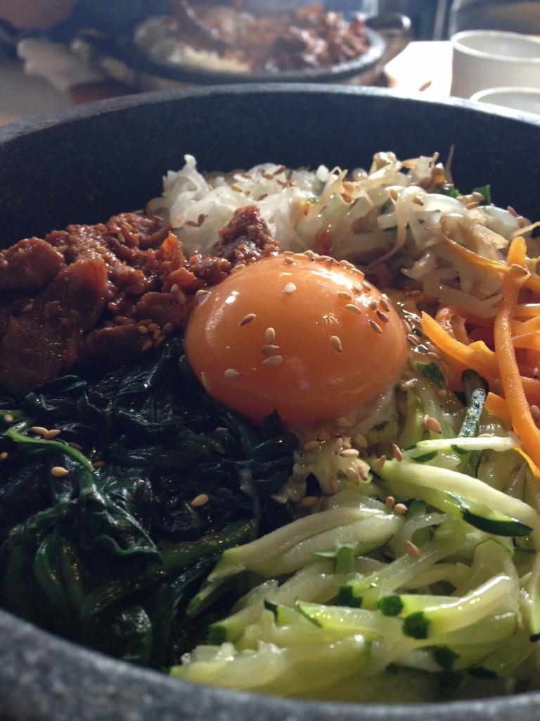 Hot Stone Bibimbap with Pork Bulgogi