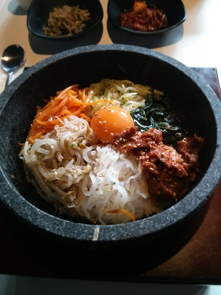 Hot Stone Bibimbap with Pork Bulgogi