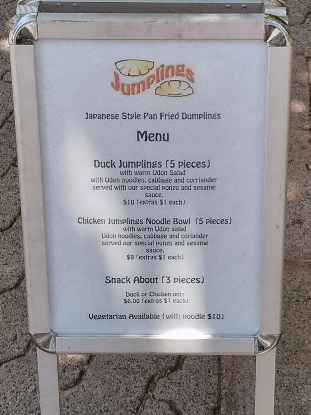 Jumplings Menu