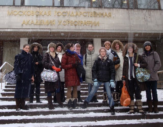 Day 1 at the Bolshoi Academy (Feb 2010)