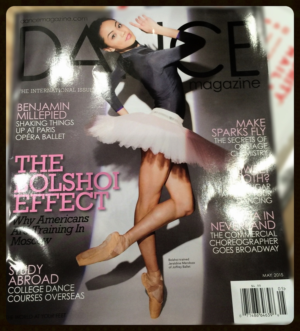City Ballet Alumna Jeraldine Mendoza on the cover of Dance Magazine May 2015 issue