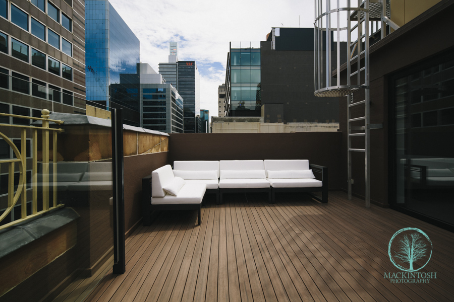 Photograph of a Sydney Office Deck.