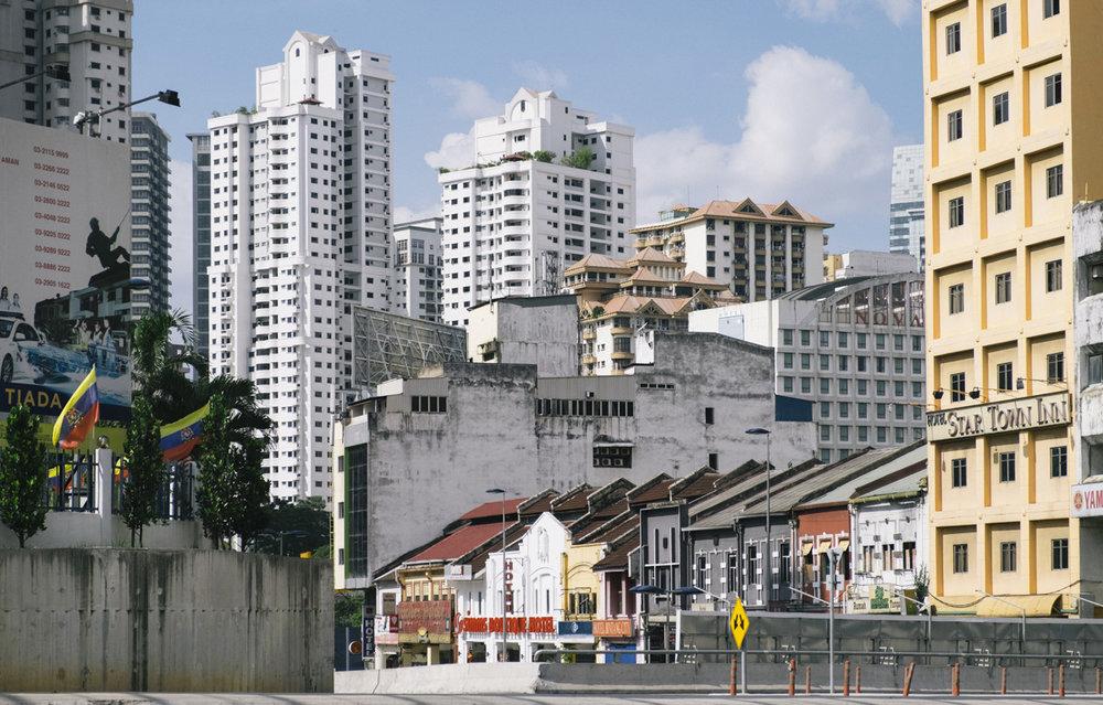 The urban architecture of Kuala Lumpur.