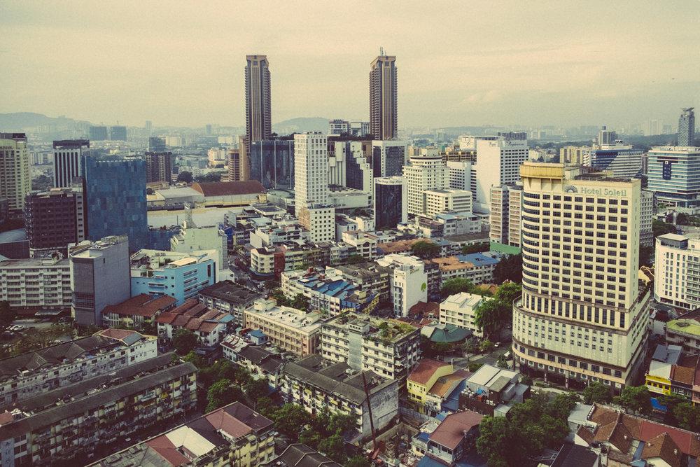 Room with a view over Bukit Bintang, Kuala Lumpur.