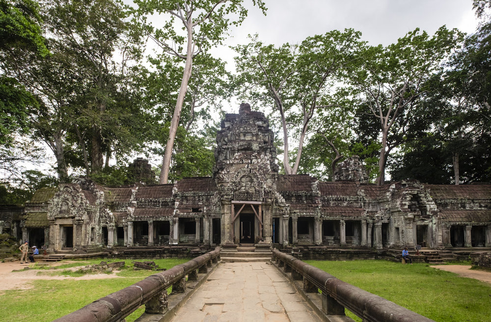 Ta Prohm, built in the Bayon style largely in the late 12th and early 13th centuries. Angkor, Siem Reap Province, Cambodia
