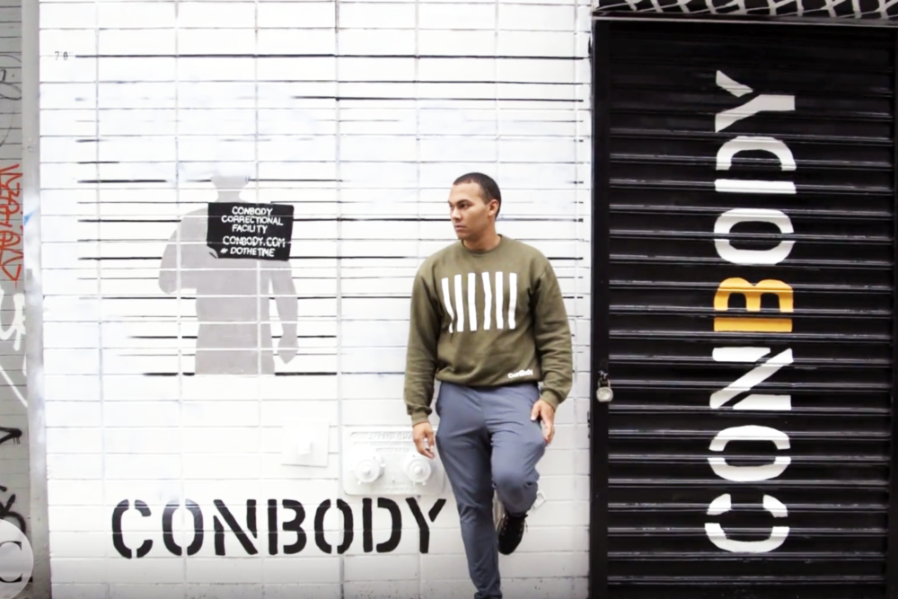 Conbody > Prison style workout. > Scope: Brand identity, visual identity, print.