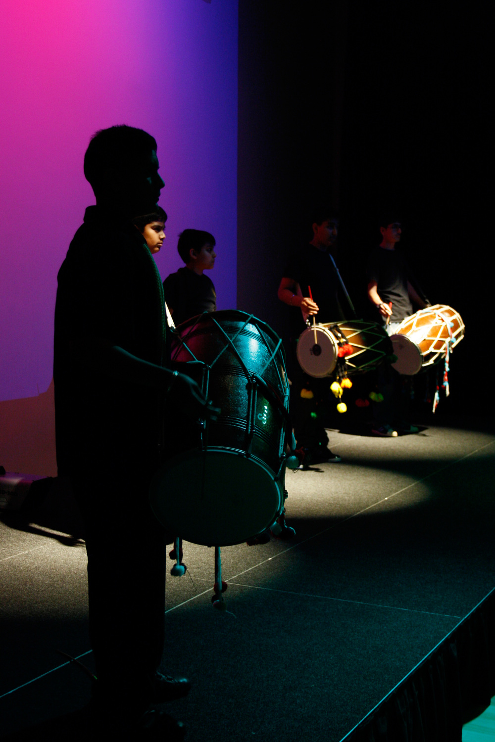Dhol Drummers opened the Autumn Festival show
