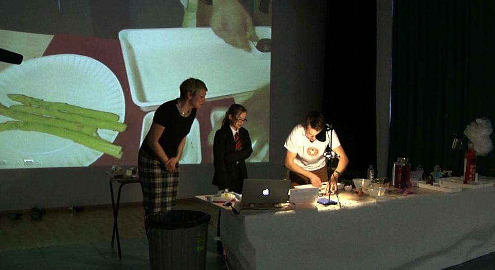 Ms Thomson and Sophie Bates - Tasting Unusual Foods
