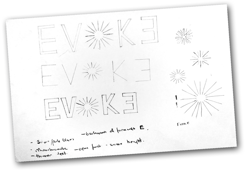 Above and below: Our initial sketches...